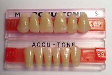 Acrylic False Teeth For Dentures. Accutone,shade69,upper & lower Anterior 1N Set