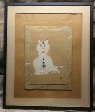 Old Vintage Toshjiro Nenjiro Inagaki Tiger Japanese Wood Block Woodblock Print