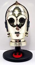 "ANTHONY DANIELS Signed SEE-THREEPIO Miniature Helmet C3-PO ""STAR WARS"" #D55360"