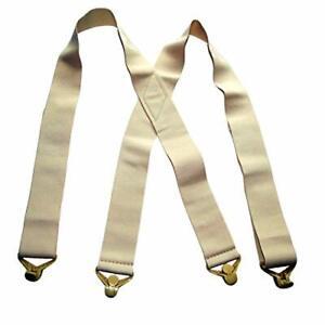 Holdup Brand USA made 2in Wide Undergarment Hidden Beige Suspenders in X-back