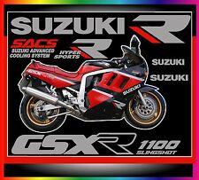 ADESIVI SUZUKI GSX-R anno1989-SACS ADVANCED COOLING SYSTEM- KIT COMPLETO
