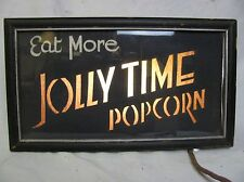 Vintage Lighted Jolly Time Popcorn Sign Hey Get Your Pop Corn Here!