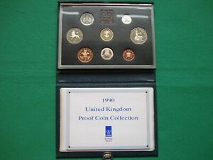 Royal Mint 1990 UK Proof Coin Collection - Blue case including COA
