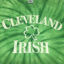 Cleveland Irish Tye Dye T-Shirt XXL 2XL Shamrock Clover Ohio Festival Heritage