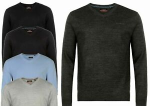 Pierre Cardin V Neck Knitted LONG SLEEVE PULLOVER SWEATER SIZE M L XL XXL