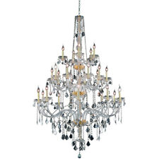 25 LIGHT LARGE VENETIAN STYLE CRYSTAL CHANDELIER FOYER LIVING OR DINING ROOM