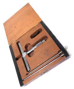 "Lufkin ECM 515 0-3"" Depth Micrometer, Machinist Tool Gage Gauge"