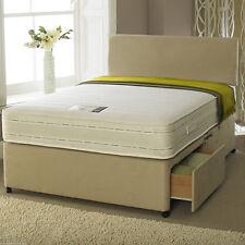 Suede Medium Pocket Sprung Beds Mattresses
