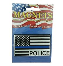 Police Thin Blue Line USA Flag Home Office Refrigerator Patriotic Magnet