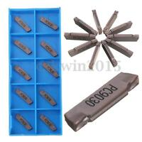 10Pcs MGMN200-G LDA Carbide Inserts Blades Grooving Part Cutting Lathe Tool