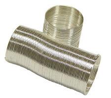 5 Perlenkäfige silber basteln Perlen Drahtspirale Perlenspacer 15x15mm