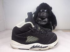 Baby Nike Air Jordan Retro 5 V Oreo 440890-035 Basketball shoes size 7C