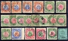 NORWAY LOCALS BY POST: 1885-91 ARENDAL USED SELECTION, 20 STAMPS