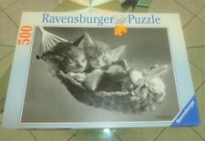 Puzzle 500 pièces Ravensburger « Chatons » noir/blanc - TBE