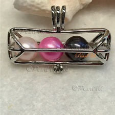 Astral Tube Pearl Cage Pendant - Located USA