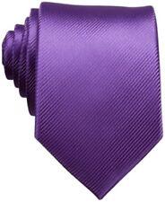 $115 PERRY ELLIS Mens PURPLE FINE LINE TIE NECK DRESS CLASSIC NECKTIE 56X3.125
