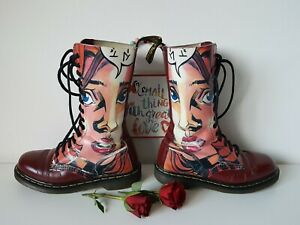 Dr Martens 1940 1914 14 eye oxblood red Manga girl mid calf boots UK 6 EU 39
