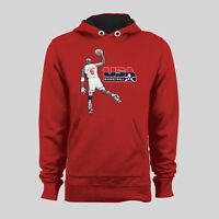 CHICAGO MICHAEL JORDAN USA OLYMPIC DREAM TEAM #9 AMERICA HOODIE *OLDSKOOL*