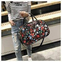 Leather Women Travel Bag New Fashion Portable Fitness Floral New Duffle Handbags