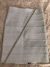 Pleasure Doing Business Bandage Skirt Silver Shimmer Size Small NEW