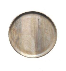 Mango Wooden Natural Finished Natural Wooden Serving plate