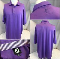 FootJoy Golf Polo Shirt XL Purple Poly Lycra Worn Once YGI C9-737