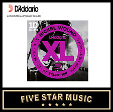D'ADDARIO EXL120 10 PACK ELECTRIC GUITAR STRING SETS 9-42 NEW DADDARIO XL120