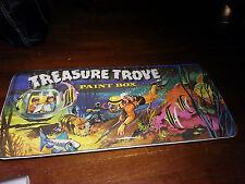 Vintage Rare LARGE Treasure Trove PAINT BOX vivid great graphics