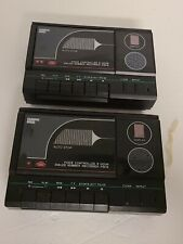Lot of 2 - Sharper Image Voice Controlled Recorder - Cassette Players #P5016