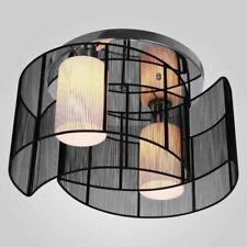 Homcom Chrome Fabric Chandelier Flush Mount Ceiling Lamp Light