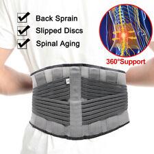 Adjustable Lower Back Support Brace Lumbar Waist Belt DoublePull Breathable Belt