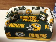 Green Bay Packers Football Sofa Couch Tissue Box Cover With Little Pillows