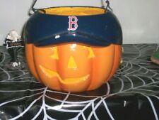 Boston Red Sox Halloween Trick Or Treat Pumpkin Pail 2005