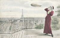 AK /  Zeppelin über Paris