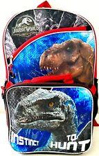 "Dinosaur Raptors Large Backpack 16/"" NWT"