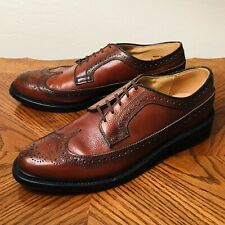 DEXTER 9D MADE IN USA BROWN LONGWING BLUCHER VTG DRESS SHOE