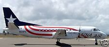 Saab 340 Fina Air Airplane Wood Model Free Ship New