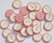 Lot 25 PINK & WHITE Vintage new Set Buttons 5/8""