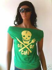 Beach Gogo cafe rockabilly punk Ibiza bella top camisa s