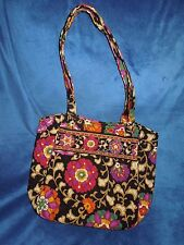 Vera Bradley Suzani Holiday Tote Handbag NWOT Retired Green/Gold/Black/Purple