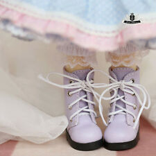 1/6 BJD Shoes Yosd Dollfie DIM Lolita Purple Boots Shoes AOD DOD LUTS DREAM SOOM
