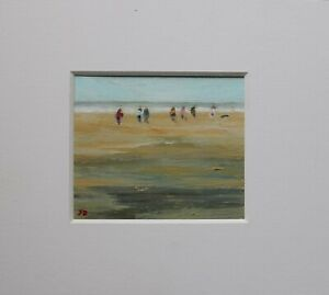 Figures on a beach by James Brereton