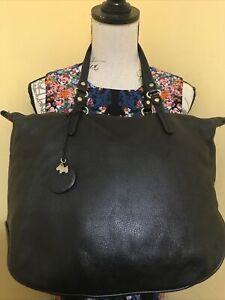 Extra Large Black Leather Genuine Radley London Handbag Bag/Shulder Work Bag Vgc