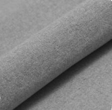 """5M PRESTIGIOUS SOFT PLAIN THICK WOOL UPHOLSTERY SEATING CURTAIN GREY FABRIC 54"""""""