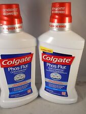 Colgate Phos-Flur Anti-Cavity Fluoride Rinse,, 16.9 oz each (2pks) fresh & new