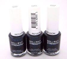 Revlon Nail Polish Blue Shimmer Brilliant Strength Beguile #020 Lot of 3