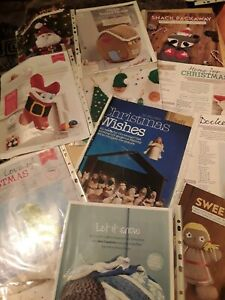 Job lot of Christmas themed knitting patterns only