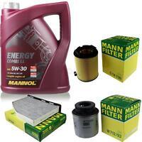 Motor-Öl 5L MANNOL 5W-30 Combi LL+MANN-FILTER Filterpaket VW Golf V 1K1 1.4 TSI