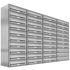 37er Premium Edelstahl Briefkasten Anlage für Außen Wand Design Postkasten 4x10