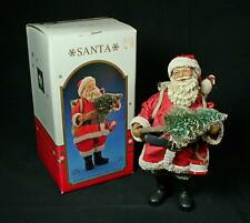 Kurt Adler Santas World Fabriche Traditional Santa In Red Suit
